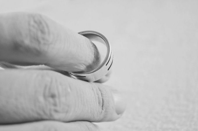 Person removing ring