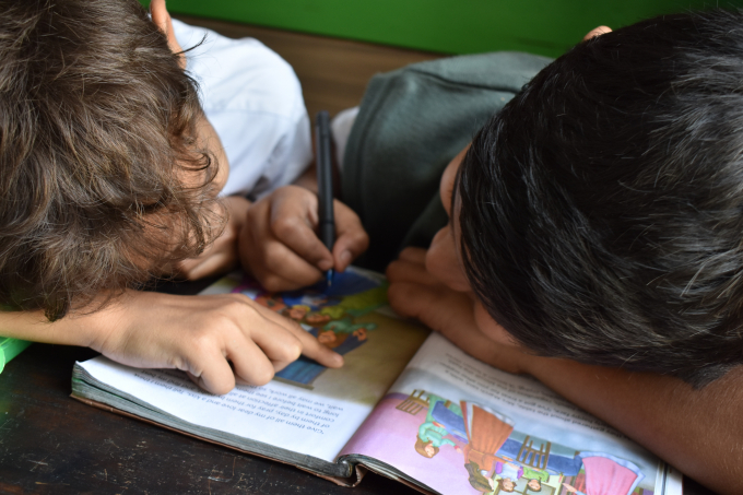 Two brothers home schooling
