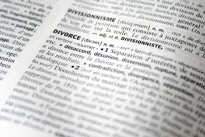 Definition of divorce in dictionary