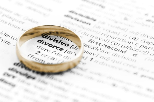 one ring on top of divorce definition