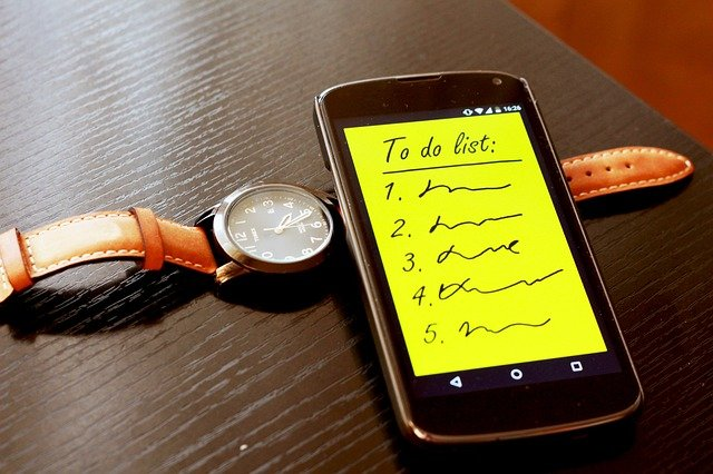 Watch and to do list on phone